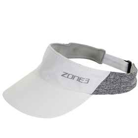 Zone3 Lightweight Race Visor, white/charcoal marl/relective silver